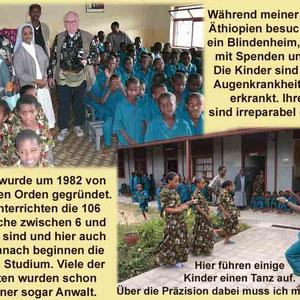 Es war für mich besonders beeinduckend zu sehen, wie aktiv diese völlig erblindeten Kinder sind. Diese Schule bekommt keine staatliche Unterstützung und ist ganz auf Spenden angewiesen.