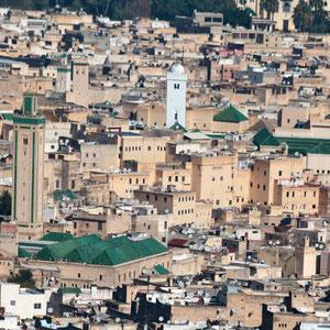 Blick auf die Altstadt von Fes.