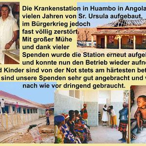 Schwester Ursula hat mehrere Stationen in Angola aufgebaut. Inzwischen ist sie über 80 Jahre alt und lebt im Mutterhaus. Ihre Projekte aber laufen weiter.