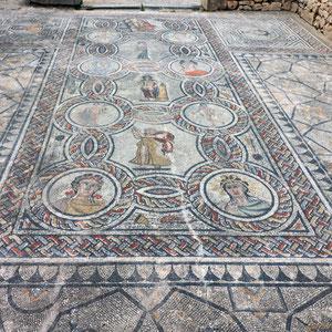 Volubilis ist eine archäologische Stätte bei Meknes. Hier sind die am besten erhaltenen Monumente aus der römischen Antike in diesem Teil Nordafrikas zu finden. Besonders schön sind die Mosaike.