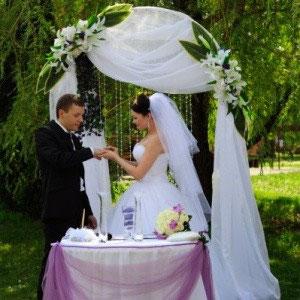 Выездная регистрация брака в Славянской деревне
