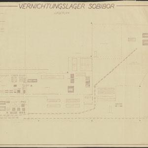 Plattegrond Sobibor - Lagerplan 1950