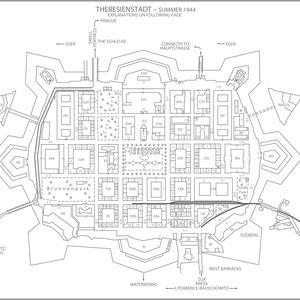Plattegrond Theresienstadt