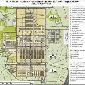 Plattegrond Auschwitz II (Birkenau) Augustus 1944