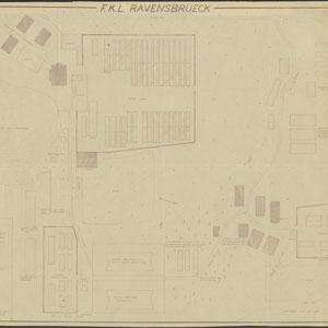 Lageplan des Frauen-Konzentrationslagers Ravensbrück mit den beiden Männernebenlagern