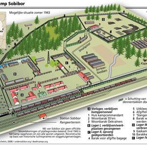 Plattegrond Sobibor (St. Sobibor)