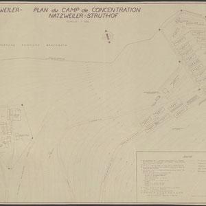 Lagerplan Natzweiler-Struthof 19 april 1950