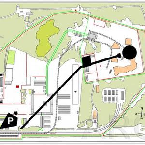 Plattegrond Sobibor Memorial Map