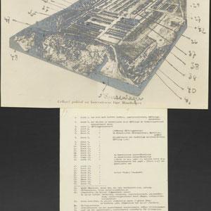 Tekening van concentratiekamp Mauthausen met register