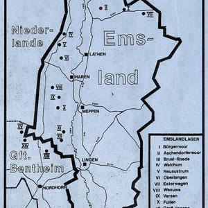 Kaart Emslandkampen