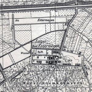 Kaart Esterwegen en omgeving