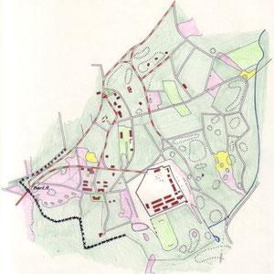 Kaart Kamp Erika en omgeving