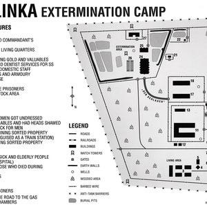 Plattegrond Treblinka