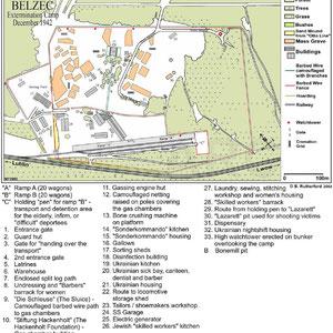 Plattegrond Belzec december 1942
