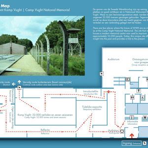 Plattegrond Nationaal Monument Kamp Vught - Herinneringscentrum