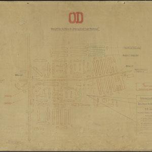 Plattegrond Kamp Westerbork - met details over de Ordedienst, OD, Uebersicht über den Aufbau des Ordnungsdienst Lager Westerbork