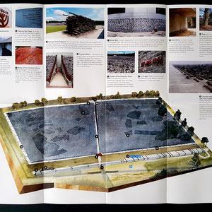 Plattegrond Belzec Memorial (brochure)