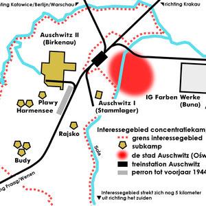 Plattegrond Auschwitz complex