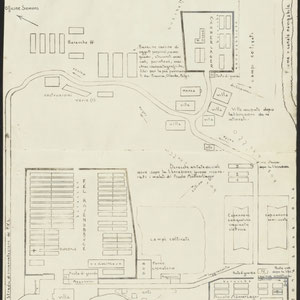 Plannen van de FKL Ravensbrück en de twee bijgevoegde Männerlagers 1 maart 1948