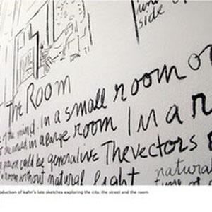 Wandzeichnungen für die Louis Kahn Ausstellung im Vitra Design Museum, Weil am Rhein