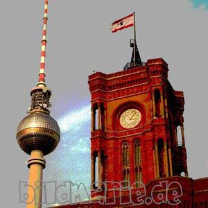 20.fr-fernsehturm und rathaus-posterart