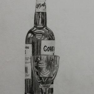 """""""Wein"""" Bleistiftzeichnung nach der Natur, 39 x 30cm, 2008"""