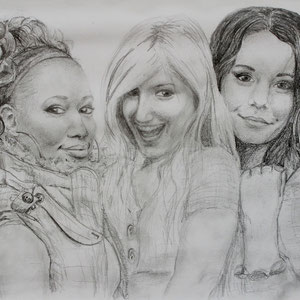 """""""High School Musical"""" Bleistiftzeichnung, 30 x 39cm, 2009"""