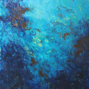 """Sog"" Acrylmalerei, 100 x 70cm, 09/2013"