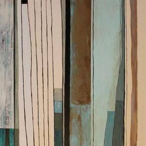"""In Linie"" Auftragsarbeit, Acryl auf Leinwand, 40 x 120cm, 10/2012"