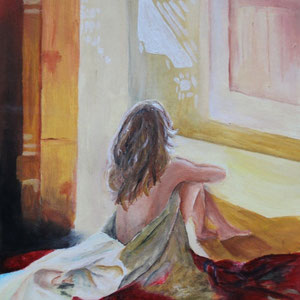 """Morgen"" Acrylmalerei, 34 x 24cm, 2007"