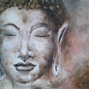 """""""Buddha"""" Acryl auf Leinwand, 40 x 60cm, 2013"""