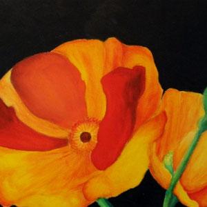 """Blume 1"" Acryl auf Leinwand, 24 x 30cm, 2005"