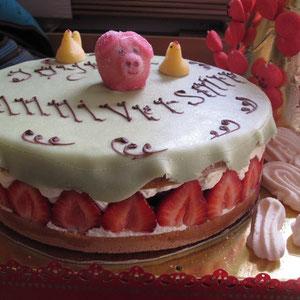 Recette du fraisier ou bagatelle Lenôtre