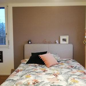 Schlafzimmer-farbige Wand
