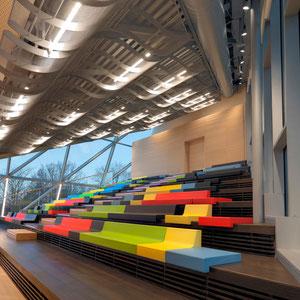 LVM - Auditorium / Edelstahl-Gewebedecke