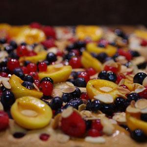 Obstkuchen, Obstblech, Früchtetraum
