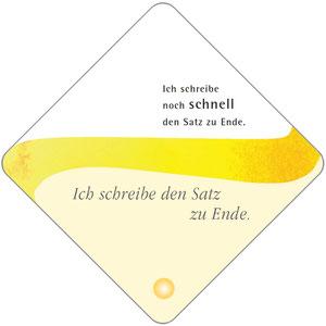 """Karte aus dem Kartensatz """"Die Kraft der Sprache"""" Vorderseite"""