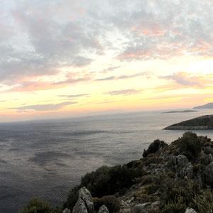 immer schöne Sonnenuntergänge auf dem Weg nach Palamutbükü