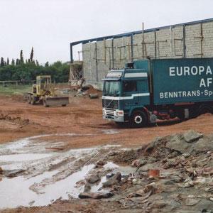 Peter Heidel bei Rieker in Larache während der Bauphase