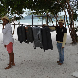 Gepäck wurde schon verladen