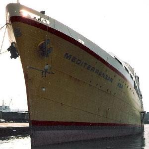 """meine erste Überfahrt nach Griechenland (nach dem Beginn des Jugslawienkrieges) mit der """"Mediterranean Sea"""" der Karageorgis Line"""