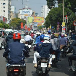 der Verkehr in Saigon