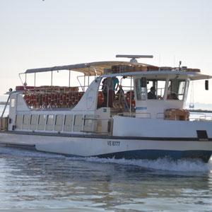 mit diesem Boot ging es in die Lagunenstadt