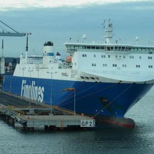 """Ankunft im Heimathafen der Finnline """"Helsinki"""""""
