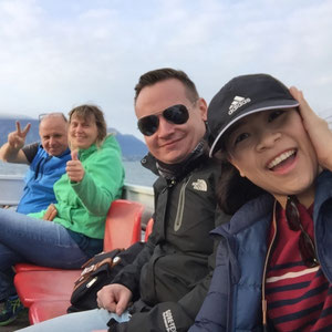 und los geht es mit dem Boot von Ghiffa nach Luino
