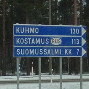 immer an der Russischen Grenze entlang