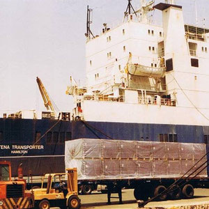 Stena Transporter mit Englischer Besatzung