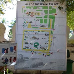 der Königspalast (Hinweistafel)