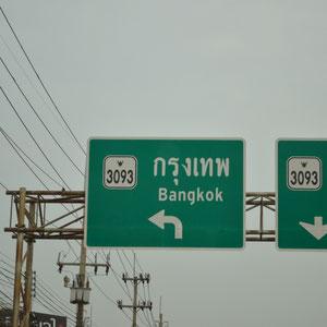 auf dem Rückweg nach Bangkok