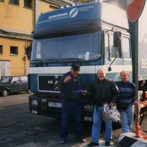 Michel und zwei weitere Kollegen